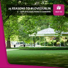 """#5: Our Spacious Parks & Gardens - On glorious summer days like these, you just want to be outside, so why not join the countless Dubliners who love to get out and enjoy """"the lungs of the city"""".  From the historic Phoenix Park to the central Saint Stephen's Green, to name but two, Dublin's full of beautiful, relaxing green spaces. Saint Stephen, Lungs, Getting Out, Summer Days, Dublin, Phoenix, Parks, Golf Courses, The Outsiders"""
