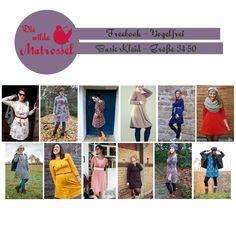 Das Freebook Vogelfrei enthält Schnittmuster und ausführliche Anleitung für ein Herbst-Winter Basic-Kleid mit viel Raum für Variationen und Kreativität.