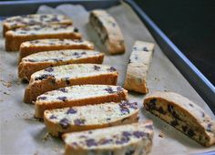 I woke up the other morning totally craving chocolate chip biscotti from this local bakery that is sadly no longer in business. I wanted a softer type biscotti that was straight up chocolate chip - no anise, no nuts... just chocolate chip. So, I looked around at various recipes and methods, tried some out and…