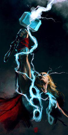 Thor VFX tshirt concept by http://redpandadee.deviantart.com/art/Thor-VFX-tshirt-concept-408070159