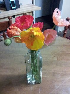 Beautiful poppies from my husband.
