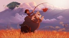 """Game Of Thrones Disney Style By Fernando Mendonca And Anderson Mahans - What happens when you combine two of our favorite things, """"Game of Thrones"""" and Disney animation? That's right: magic. Artists Fernando Mendonça and Anderson Mahanski are the ones responsible for the abundance of joy you'll find below and all we can think is, will Disney ever take on Westeros and give us """"Mother of Dragons and the 7 Kingdoms""""?"""