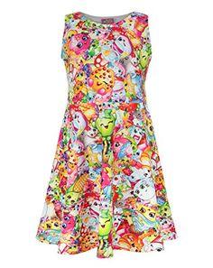 Shopkins Girl's Skater Dress * CHECK OUT @ http://www.kidsfashion4u.com/store/shopkins-girls-skater-dress/?a=7029
