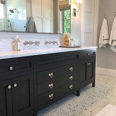 Bathroom Envy... @studiomcgee @stevetiek  #vanity #cabinet #cabinetry