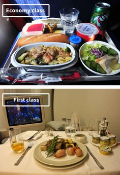 Airline Food: Economy Vs. First Class, Air France