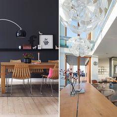 Familien på Nordberg behøver ikke gå ut i naturen - de bor i den! Designers Guild, Eames, Dining Table, Ceiling Lights, Lighting, Furniture, Home Decor, Nature, Dining Room Table