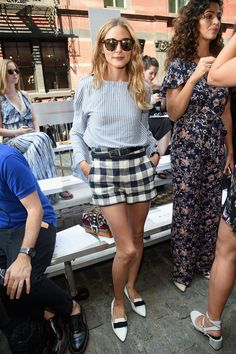Olivia Palermo poses backstage at the Jonathan Simkhai fashion show during New York Fashion Week: The Shows at The Arc, Skylight at Moynihan Station on September 10, 2016 in New York City.
