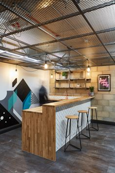 AIS has created a dynamic design for the offices of housing development group, the Bagel Factory, located in London, England. Bagel Factory, Mad Design, Trinity House, Tile Showroom, Dynamic Design, Contemporary Furniture, Office Decor, Furniture Design, Loft