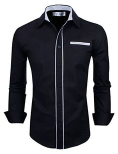 Shop Tom's Ware Mens Premium Casual Inner Contrast Dress Shirt Free delivery and returns on eligible orders. Casual Button Down Shirts, Casual Shirts, Men Shirts, Spring Shirts, Long Sleeve Shirt Dress, Dress Shirts, Shirt Style, Men Dress, Toms