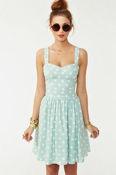 mint and polka dots.