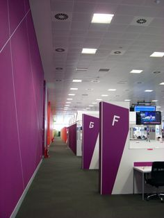 Even non-sporting venues have received the full 'One Look' treatment. Here's the interior of the press centre.