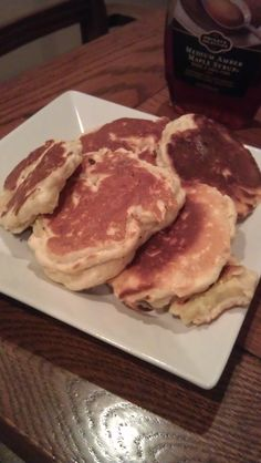 Healthy apple slice pancakes for a quick toddler breakfast -yum!
