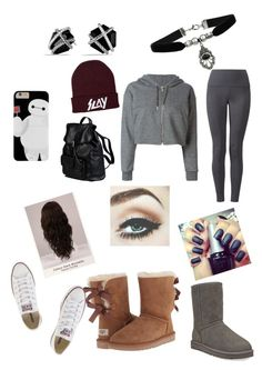 """""""Winter Outfit W/ Shoe Choices"""" by d-j-bryson ❤ liked on Polyvore featuring Golden Goose, Lyssé Leggings, Converse, UGG Australia, WigYouUp, Topshop, David Yurman and Doucal's"""