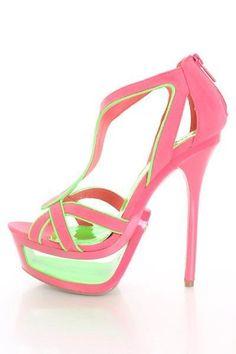 Coral Green Faux Suede Neon Trim Cut Out Platform Heels @ Amiclubwear Heel Shoes online store sales:Stiletto Heel Shoes,High Heel Pumps,Womens High Heel Shoes,Prom Shoes,Summer Shoes,Spring Shoes,Spool Heel,Womens Dress Shoes,Prom Heels,Prom Pumps,High He