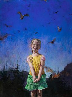 Little Girl with Bats, oil, 2012 John Brosio