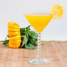 Meyer Lemon and Basil Martini - for a classy cocktail hour or, you know, just because.