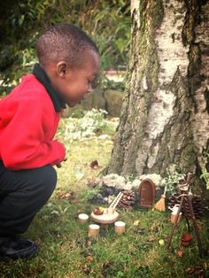 discovering a fairy house #abcdoes #fairies #provocationsforlearning #eyfs
