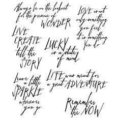 Tim Holtz Cling Mount Stamps - Handwritten Thoughts CMS218