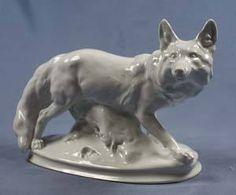 rare polar fox porcelain figurine Meissen,meissen figurine