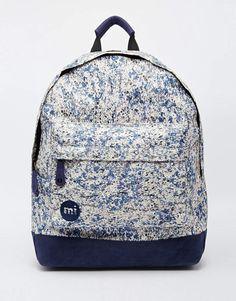 half off 55867 68d14 Image 1 of Mi-Pac Backpack in Marble Print Marble Backpack, Marble Bag,