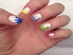 Easy Dripping Paint Nails