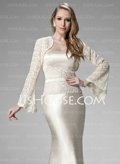 Wraps - $39.99 - Long Sleeve Lace Special Occasion Wrap (013010112) http://jjshouse.com/Long-Sleeve-Lace-Special-Occasion-Wrap-013010112-g10112