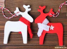Новогодние игрушки. Елочная игрушка из дерева/Рождественский олень купить Украина — SKRYNYA.UA