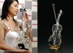 World First Glass Violin... if i were Cinderella i would take the violin over the shoe any day .