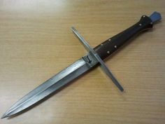 Cable damascus dagger