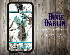 Country Inspired Samsung Galaxy S3 / Samsung Galaxy S4 / Samsung Galaxy S5 / Camo Phone Case - Turquoise & Snow Camo Buck and Bow (CP0103)