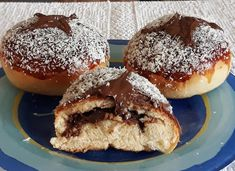 Nutellás, sütőben sült fánk, hatalmas sikere lett - Egyszerű Gyors Receptek Doughnut, Muffin, Baking, Breakfast, Desserts, Food, Morning Coffee, Tailgate Desserts, Deserts