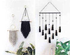 DIY: 7 ideer til væggen - Boligliv Diy Home Crafts, Decor Crafts, Diy Home Decor, Kids Crafts, Photo Wall Hanging, Yarn Wall Hanging, Cute Room Decor, Macrame Projects, Boho Diy