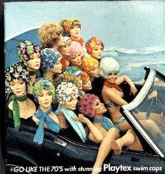 Go like the 70's with Playtex Swim Caps!