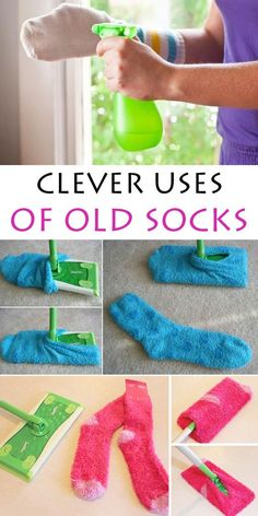 89 Brilliantly Frugal Ways To Use Old Mismatched Socks - Usefull Information House Cleaning Tips, Diy Cleaning Products, Cleaning Hacks, Diy Cleaners, Cleaners Homemade, Sewing Hacks, Sewing Projects, Crafts To Make, Home Organization
