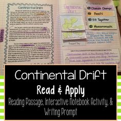 Continental Drift- A reading comprehension practice activity that focuses on Alfred Wegener's theory of Pangaea and the evidence that supports his theory.
