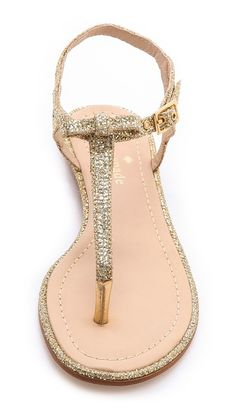 Oh I love.  Gold glitter bow thong sandals by #katespade http://rstyle.me/n/i89qznyg6
