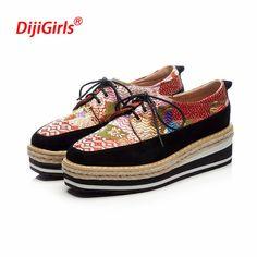 379390f862aae0 Marque de luxe plat plate-forme chaussures femmes mocassins en cuir  véritable impression bout rond