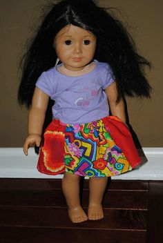 simple American Girl Doll skirt