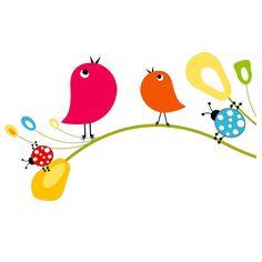 Stickers Branche Oiseaux