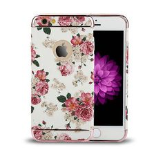eeb3b546689 Luxury Flower Shockproof Back Cover Case for Apple iPhone 6 6S Plus 4.7