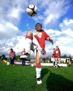 A girl training during the Football Festival in England. #ESPNW
