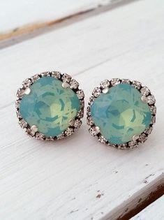 Mint earrings | mint oxidized silver earrings by EldorTinaJewelry on Etsy | http://etsy.me/1PnFDDa