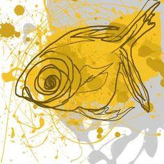 Yellow Fish Canvas Art