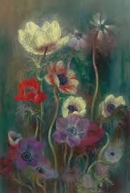 Anemones Pavel Tchelitchew (Russian, Painting - oil on canvas Russian Painting, Russian Art, Russian American, Art Floral, Modern Art, Contemporary Art, Oil On Canvas, Canvas Prints, Raindrops And Roses
