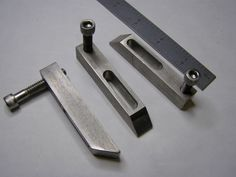"Small Toe Clamps by Harvey Melvin Richards -- I made these from some 1/2"" X 1/2"" stainless stock. They get used all the..."