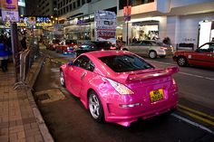 Pink 350z at Hong Kong
