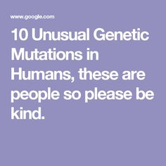 Mutations changing the genetic code simulation biology genetics 10 unusual genetic mutations in humans these are people so please be kind ap biologyscience fandeluxe Images