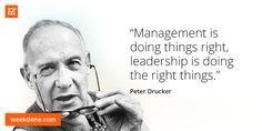 Spot on, Peter. #management #vs #leadership #motivational #quotes