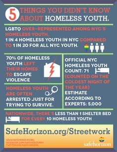Stats on homeless youth from Safe Horizon New York - June 2014
