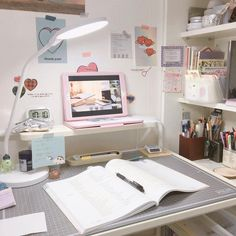 Want to know more about home office decorating ideas deskClick the link for more information Study Room Decor, Study Rooms, Bedroom Decor, Desk Inspo, Desk Inspiration, Study Areas, Study Space, My New Room, My Room